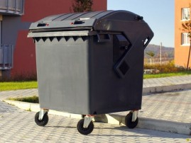 Containere HDPE CLE 1100L cu capac rotund